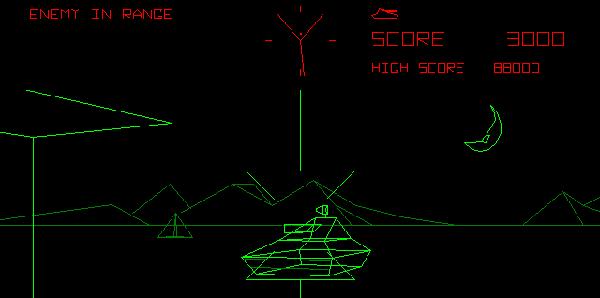 Rendu Fil de Fer de Atari BattleZone