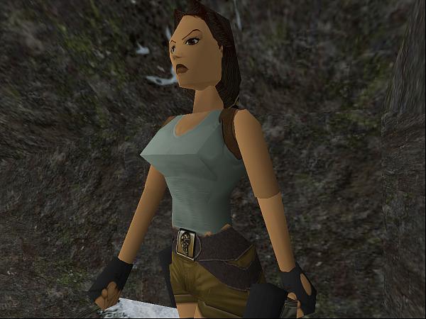 Le premier Tomb Raider combinait textures simples et lissage de Gouraud