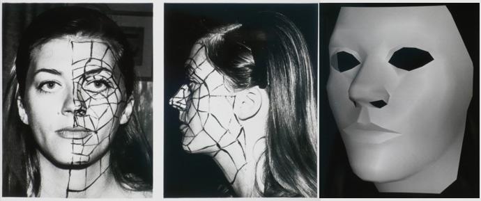 Sylvie Gourand et premier modèle 3D avec lissage de Gouraud